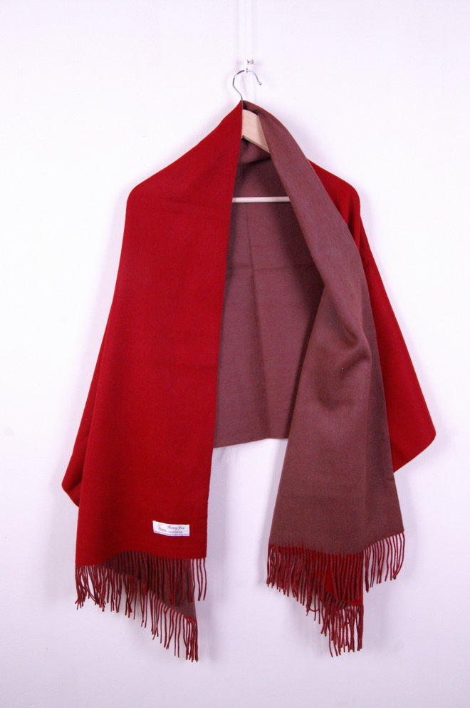 4 Layer Pashmina Red/Brown